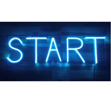 START em Led Neon Azul
