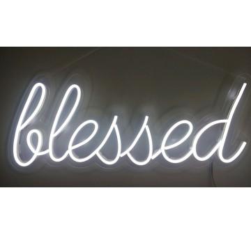 Blessed em Neon - Branco