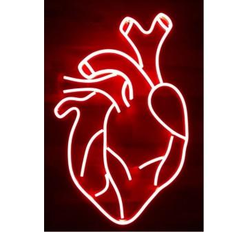 Coração Humano em Led Neon